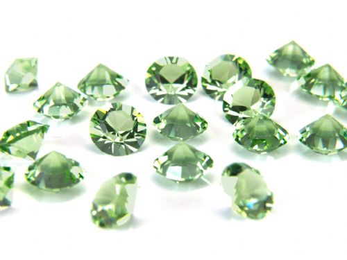 Pk 100 Swarovski Unfoiled Table Crystals, Style 1088, SS24 (5.5mm), Peridot